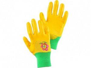 Rukavice DRAGO, dětské, máčené v nitrilu, žluté, vel. 07