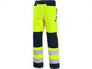 Kalhoty CXS HALIFAX, výstražné se síťovinou, pánské, žluto-modré