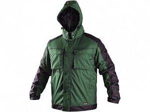 Bunda CXS IRVINE, zimní, pánská, zeleno-černá
