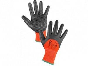 """Povrstvené rukavice MISTI, oranžovo-šedá,8"""" - 10"""""""