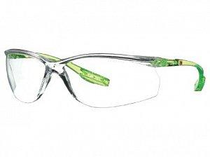 Brýle 3M Solus CCS, scotchgard, limetkově zelené, čiré
