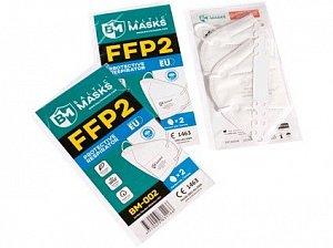 Respirátor FFP2 bez ventilku BM-002 (003), 2 ks v balení
