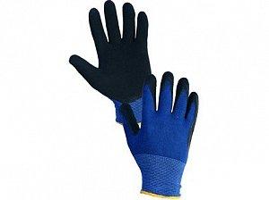 Povrstvené rukavice MAGNA, modro-černé