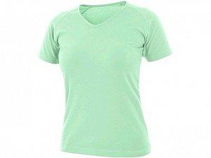 Tričko CXS ELLA, dámské, krátký rukáv, mátová