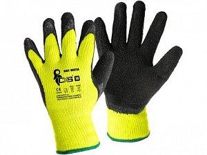 Rukavice CXS ROXY WINTER, zimní, máčené v latexu, černo-žluté, vel. 09
