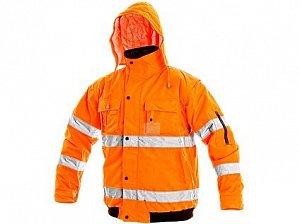 Pánská reflexní bunda LEEDS, zimní, oranžová
