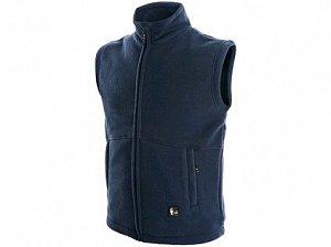 Pánská fleecová vesta UTAH, tmavě modrá