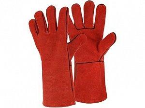 Rukavice CXS PATON RED, svářecí, červené