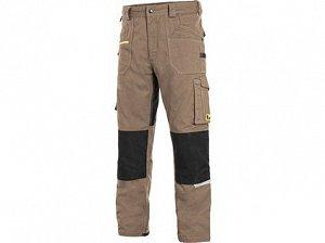 Kalhoty CXS STRETCH, pánské, béžovo-černé