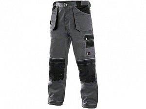 Kalhoty do pasu CXS ORION TEODOR, prodloužené, pánské, šedo-černé