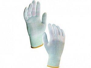Textilní rukavice KASA, bílé, vel. 08
