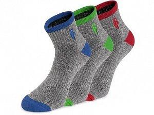Ponožky CXS PACK, šedé, 3 páry