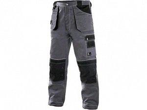 Kalhoty do pasu CXS ORION TEODOR, 170-176cm, pánské, šedo-černé