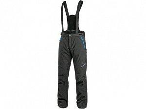 Kalhoty CXS TRENTON, zimní softshell, pánské, černo-modré