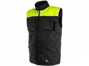 Pánská zimní vesta SEATTLE, fleece, černo-žlutá