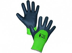 Povrstvené zimní rukavice ROXY DOUBLE WINTER, černo-zelené, vel. 10