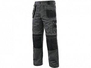 Kalhoty do pasu CXS ORION TEODOR PLUS, pánské, šedo-černé (potisk)