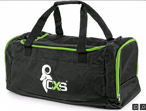Sportovní taška CXS, černo-zelená, 75 x 37,5 x 37,5 cm