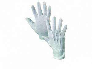 Textilní rukavice MAWA, s PVC terčíky, bílé, vel. 08