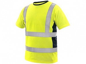 Tričko EXETER, výstražné, pánské, žluté