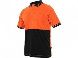 Polokošile LIAM, krátký rukáv, oranžovo-černá