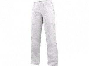 Dámské kalhoty DARJA s pasem do gumy, bílé
