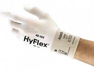 Povrstvené rukavice ANSELL HYFLEX 48-105, bílé