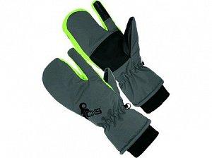 Rukavice zimní CXS FRIGG, palcové, tříprsté, šedo - zelené