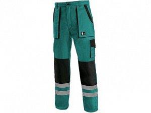 Kalhoty CXS LUXY BRIGHT, pánské, zeleno-černé