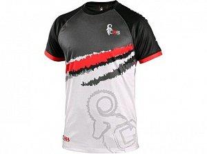 Tričko CXS SPORTY, krátký rukáv, šedo - červená