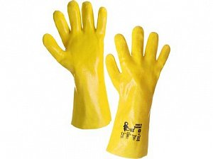 Kyselinovzdorné rukavice TEKPLAST, vel. 10