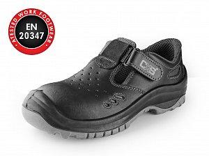 Obuv sandál CXS SAFETY STEEL COPPER O1, černý