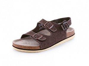 Obuv sandál CXS CORK FILL, dámský, s páskem, hnědý