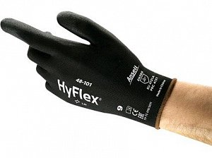 Povrstvené rukavice ANSELL HYFLEX 48-101, černé