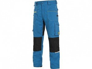 Kalhoty CXS STRETCH, pánské, středně modré-černé