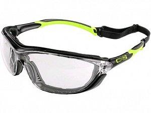 Brýle CXS Margay, černo-zelené, čirý vzorník