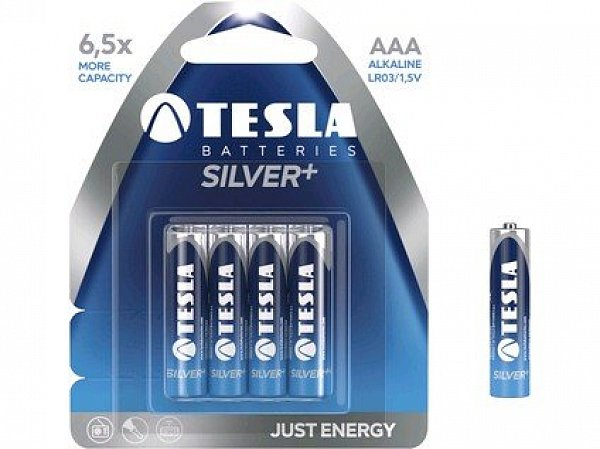 Baterie TESLA AAA Silver+, mikrotužková, 4ks