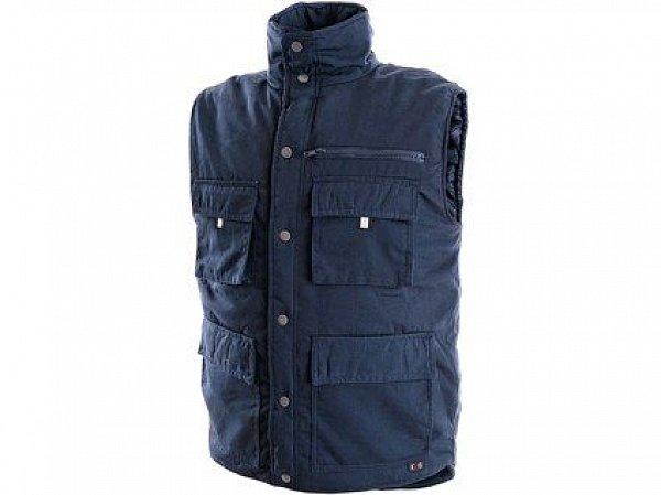 Pánská zimní vesta DENVER, modrá (Potisk)
